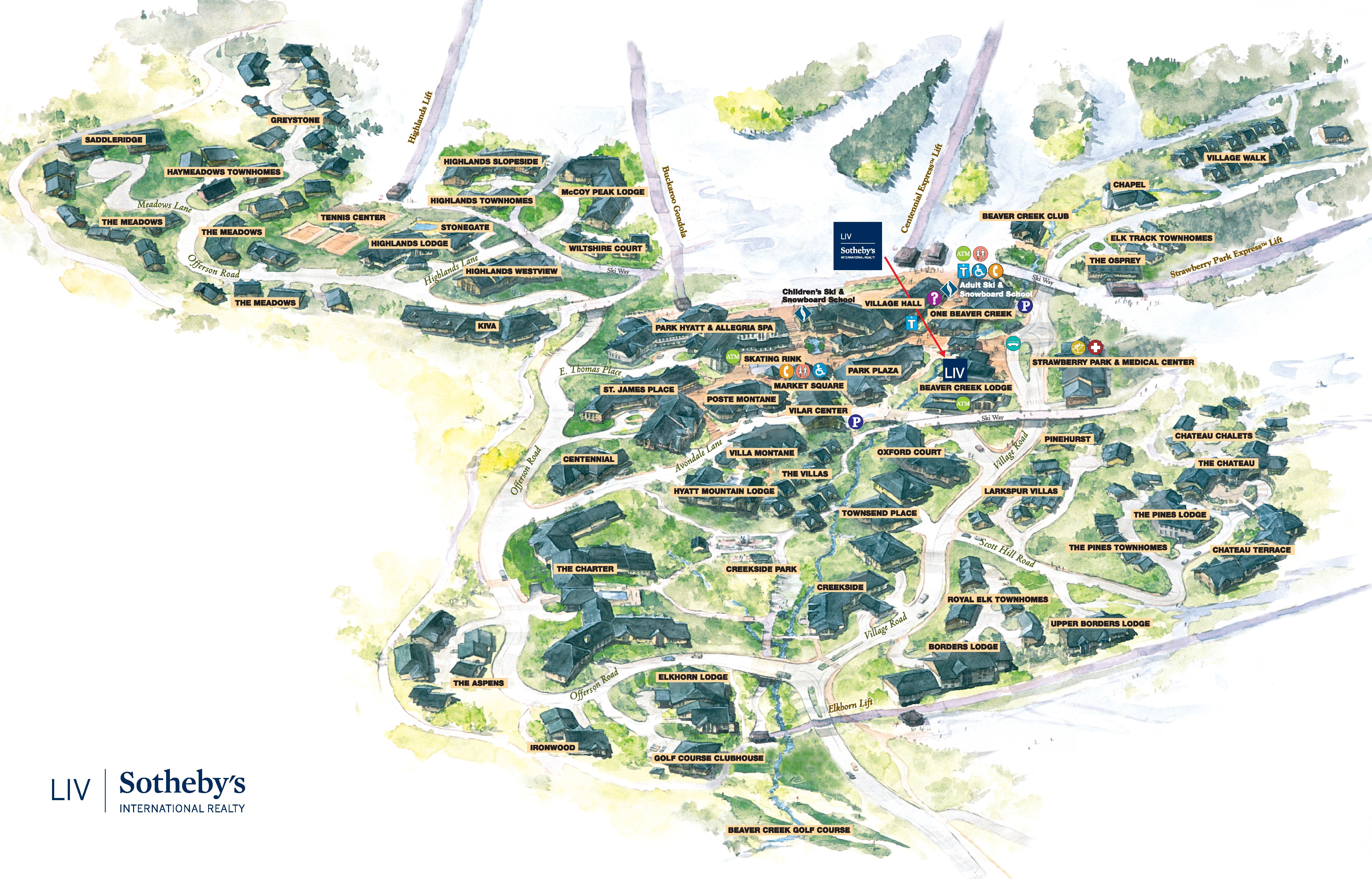 Vail Valley Beaver Creek Area Map 2017 Exterior